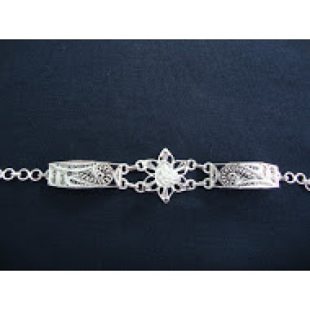 Filigree Bracelet With Flower