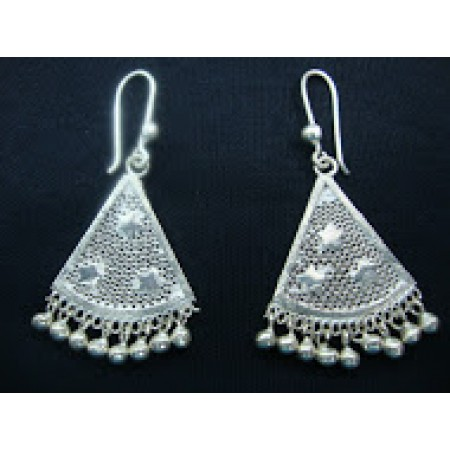 Filigree Earrings with Stars