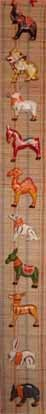 Scroll with 10 animals