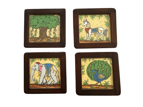 Pattachitra Forest Inspirations Coaster Set