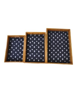 Black Ikat Trays