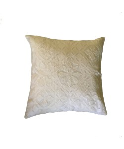 Applique White Cushion