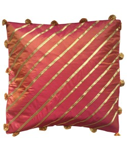 Pink Toned Gota Work Cushion
