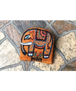 Jute Elephant Fridge Magnet