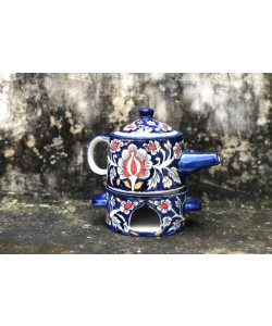 Mughal Flowers Tea Pot Warmer Set