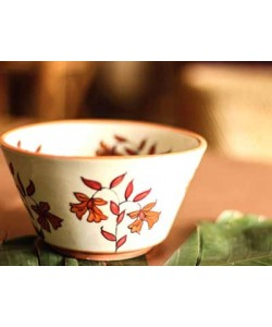 Mughal Garden Red Orange Curry Bowl