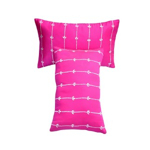 Pink Glace Cotton Long Cushion