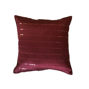 Maroon Sequins Cushion