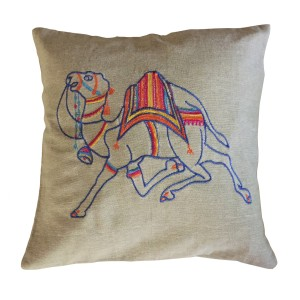Multi-Coloured Camel Cushion